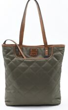 TOMMY HILFIGER Quilted Nylon Tote Shopper Bag, With EXTRA Pouch, Olive Green