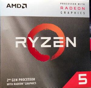 AMD RYZEN 5 3400G 4 Cores-8 Threads 3.7GHz (4.2GHz Max Boost) Socket AM4 CPU