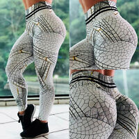 Women's Sports Yoga Leggings Fitness Gym Running Jogging Pants Workout Trousers