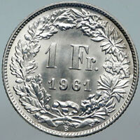 1952 B SWITZERLAND HELVETIA Symbolizes SWISS Nation SILVER 1 Franc Coin i88526