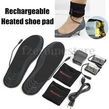 WARMSPACE Shoe Pad 3.7V Rechargeable Electric Heated Insoles Keep Foot Warm NEW
