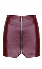 Unbranded Faux Leather Casual Petite Skirts for Women