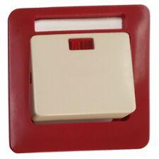 PEHA Standard Schalter Wippe mit Linse und Namensschild D 81.640 NA GLK Rot