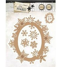 Studio Light Cutting & Embossing Die FROZEN FOREST No.17 Snowflake Frame 5pc