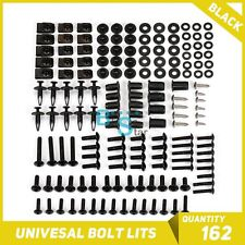 Black 162Pcs Fairings Bolt Kit Fastener Nuts Screws for CBR 250 500 125 RR