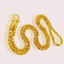 CHAIN  GIFTING IDEA 22 CARAT GOLD BOX LINK CHAIN SPECIAL HANDMADE JEWELRY