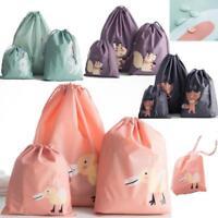3X Cotton Linen Drawstring Storage Bag Toy Shoes Laundry Organizer Travel Pouch