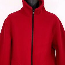 Guy Cotten Fleece Jacket Vtg Full Zip Mock Neck Made In France Red Mens Size XL