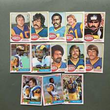 Lot cartes NFL Los Angeles Rams Topps 1976 1980 1981 Football Américain