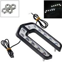 2Pcs 6LED White Car Driving Lamp Fog 12V DRL Daytime Running Bright Light US