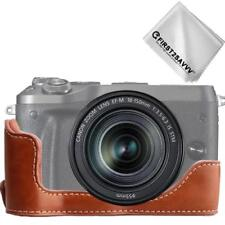Leather Half Camera Case Bag Cover base for Canon EOS M6 XJPT-EOSM6-D09