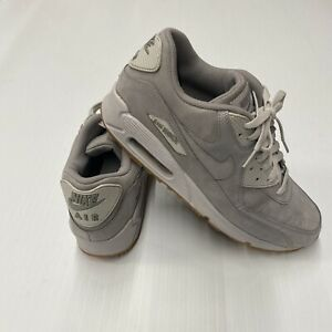 Nike Air Max 90 Winter PRM Grey Wolf Grey 683282-005 Size 12 Suede Leather