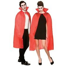"Red Adult 42"" Cape With High Collar Devil Vampire Halloween Fancy Dress Accessor"