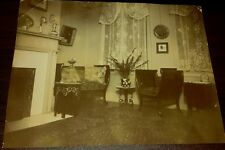 Vintage Old 1899 Photo Victorian Furniture Rolled Arm Bench Colorado Springs CO