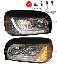 Headlight with LED Strips & LED Corner Light LH RH (Fit:Freightliner Century)