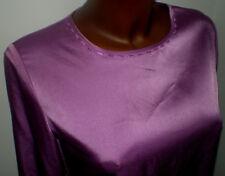 Viyella Petite Heather Lilac Blouse Top Embroidered Neck & Cuffs 8 EU 34 GC