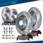 Front & Rear Drilled Brake Rotors + Brake Pads for 2007 - 2013 Nissan Altima