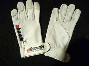 Gants AKANDO blancs cuir souple et résistant taille XL (20,5 x 11 cm)
