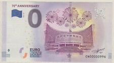 Null € 0-Euro-Schein Souvenir Souvenirschein China Folder 70th Anniversary 2019