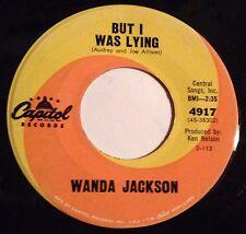 Wanda Jackson 45 But I Was Lying / Sympathy