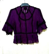 Anna Sui purple silk top