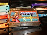 GAME/JEU FAMICOM NINTENDO NES JAPANESE DRAGON BUSTER JAPAN #087