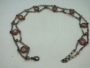 Attractive Art Deco Open Choker Amethyst Bead Necklace Circa 1930