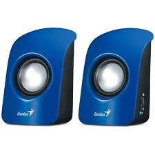 NEW GENIUS USB POWERED COLOURFUL BLUE MULTIMEDIA STEREO SPEAKERS for COMPUTER PC