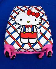 Hello Kitty Kids Girls Travel Holiday Hard Suitcase 4 Wheeled bag UK Seller!