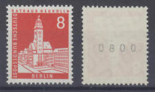 BERLIN - Michel Nr. 187 R postfrisch/** (Rollenmarke, rückseitige Nummer) !