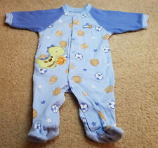 Just One Year Baby Boy Long Sleeve Footed Sleeper Pajamas Size 3 Months