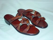 Womens Upscale Cole Haan Leather Metal Accent Southwestern Country Sandals 7.5 B