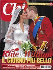 Chi magazine Kate Middleton Prince William royal wedding Mara Carfagna Vespa