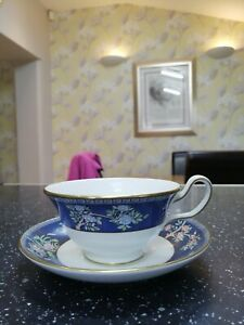Wedgwood BLUE SIAM peony shape cup and saucer