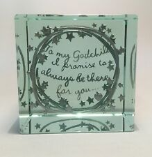 Spaceform Quality Layered Paperweight Christening Gift Ideas Godchild 1956