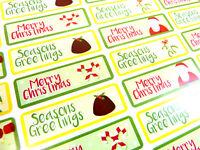 Feliz Feliz Navidad Pegatinas Etiquetas Para Tarjetas Sobres /& festivo Artesanía X50301