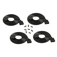 4 Pcs/Pack Black 2M 6.56Ft Color Rgb Extension Cable Led Strip Connector
