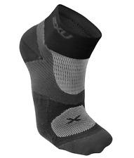 2XU Women's Training Vectr Sock - Black/Grey - Medium