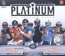 2011 Topps Platinum Football Hobby Box