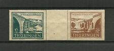 Germany 1946 Reconstruction of Bridges - Thuringen - Pair - MNH