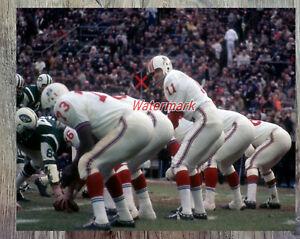NFL AFL 1970 Boston Patriots QB Joe Kapp Game Action Color 8 X 10 Photo Picture