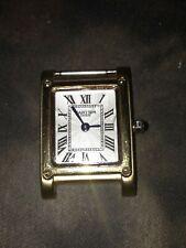 Cartier Must De Tank Vermeil Argent Sterling Silver & 18K Gold Plated Wristwatch