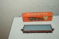 WAGON A BORD PLAT  TRAIN  MARKLIN 4606 NEUF  CAR/WAGEN
