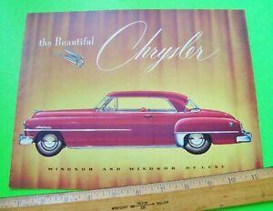 1952 CHRYSLER WINDSOR DLX CATALOG Brochure 12-pgs CONVERTIBLE Newport Coupe XLNT