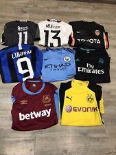 More details for joblot bundle x8 mixed football shirts adults read description