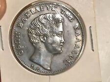 5 Drachmai 1833   Silver Coin 925 King Otto OLD Souvenir  Nice  Amazing Patina