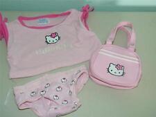 Lot Build a Bear Hello Kitty Panties Tee Purse 11492 Pink