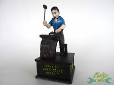 Heavy Cast Iron Moveable BANK ON JOHN DEERE QUALITY BANK Money Bank Box XBJD