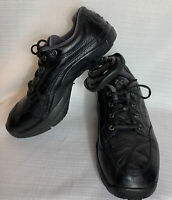 Z-CoiL Legend Black Leather Shoes Pain Relief Open Coil Lace Up Tie Womens 9M