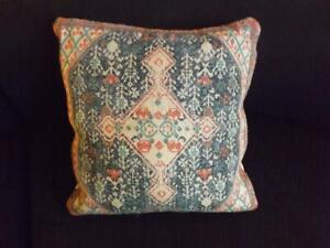"""Surya Green Jute Pillow 18"""" Square Down Filled Multiple Quantities"""